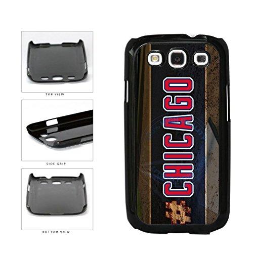 BleuReign(TM) Hashtag Chicago #Chicago Blue and Red Baseball Team Plastic Phone Case Back Cover For Samsung Galaxy S3 (Baseball Samsung Galaxy S3 Case)