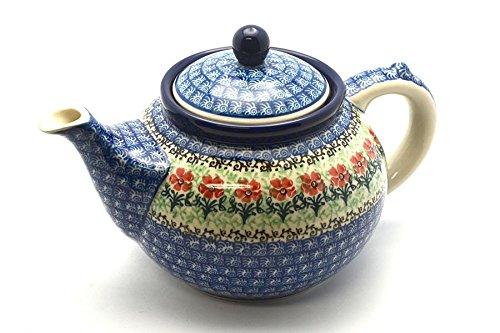 Polish Pottery Teapot - 1 1/4 qt. - Maraschino