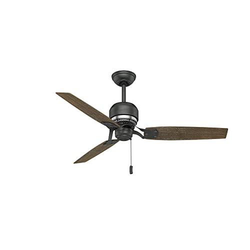 Casablanca Indoor Ceiling Fan, with pull chain control – Tribeca 52 inch, Black, 59498