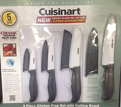 Amazon.com: Cuisinart 9 Piece Kitchen Knife Set With Cutting Board: Boxed  Knife Sets: Kitchen U0026 Dining