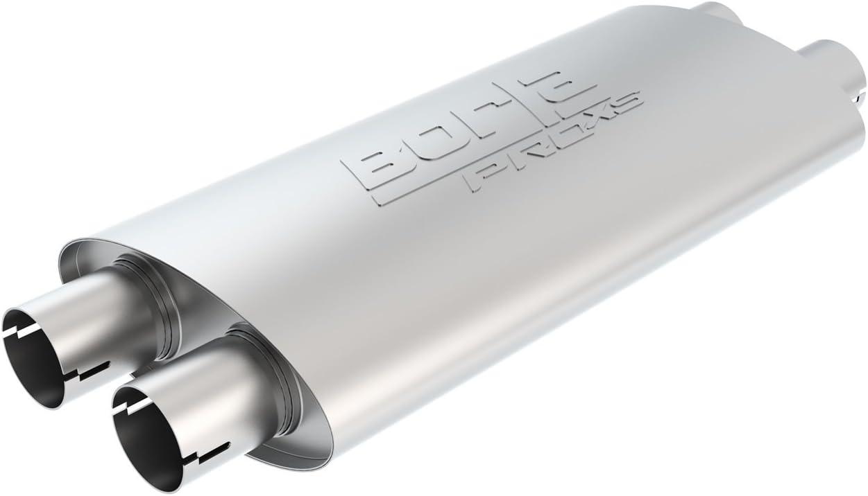 """Borla 400286  Pro XS Muffler Dual//Dual Oval 19/"""" x 4/"""" x 9.5/"""" 2.5 In//Out 2.5/"""""""