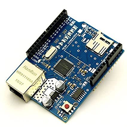 CENTIoT Ethernet W5100 Shield Network Expansion Board with Micro SD Card  Slot for Arduino
