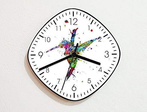 rd - Paint Brush Splash Color Art Drops - Novelty Gift - Custom Name Wall Clock ()