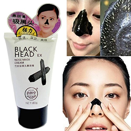 LuckyFine 1PCS Charcoal Blackhead Remover Cleaner Deep Cleansing Purifying Peel Off Tearing Anti Acne Mud Face Facial Mask Pore