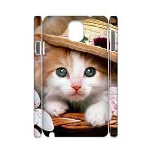 case Of Cute Cat 3D Bumper Plastic customized case For samsung galaxy note 3 N9000