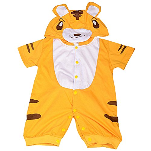 Dressy Daisy Baby Boys' Tiger Baby Animals Halloween Fancy Party Costume Jumpsuit Size 3-6 Months]()