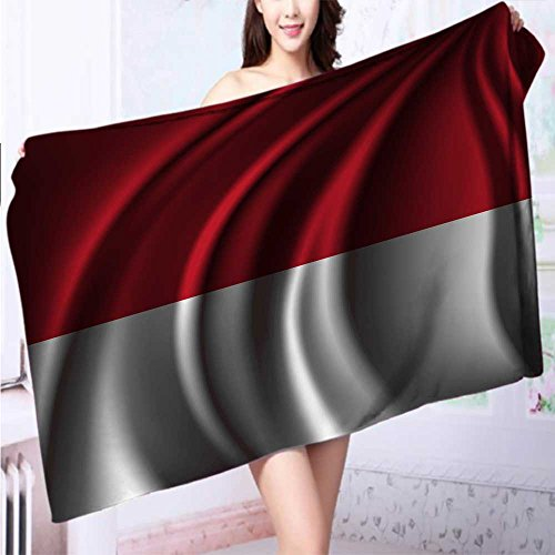 Luxury Elegant Bath Towels Flag of INDONESIA Luxury Hotel & Spa Towel L55.1 x W27.5 INCH by SeptSonne
