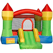 KINDAFLY Kids Bounce House - Inflatable Castle Bouncy Castle Theme Bouncing Jump & Slide without Blower