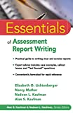 Essentials of Assessment Report Writing 1st Edition