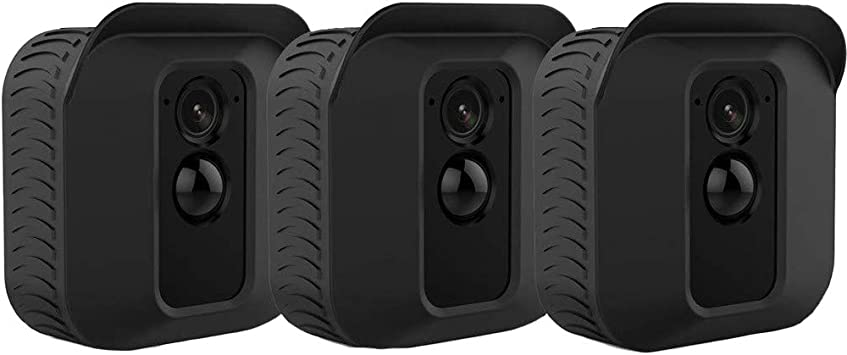 Silicone Skin for Blink xt2 Blink XT2 Cover 1 Pack, Black Weather Proof Protective Case for Blink XT2 Camera Outdoor Wireless Home Security 3 Pack, Black