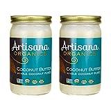 Artisana Organics - Coconut Butter, Organic, Certified R.A.W. Spread, No Added Sugar, Non-GMO and Vegan (2-Pack, 14 oz)