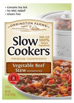 Orrington Farms Vegetable Beef Stew Slow Cooker Seasoning, 2.5 Ounce - 12 per case.