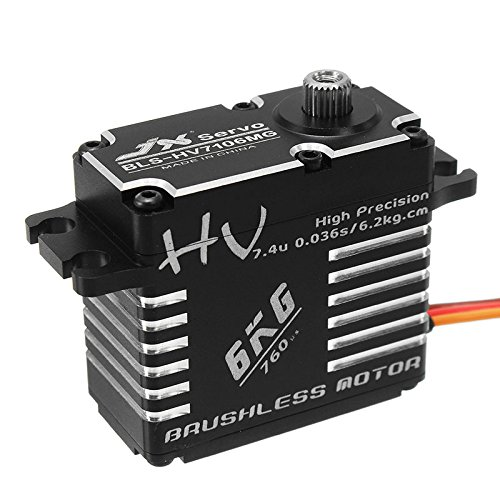 (HITSAN JX BLS-HV7106MG 6KG HV High Precision Steel Gear Digital Brushless Lock Tail Servo One Piece)