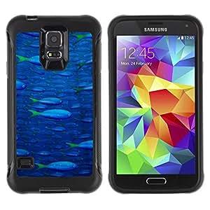 LASTONE PHONE CASE / Suave Silicona Caso Carcasa de Caucho Funda para Samsung Galaxy S5 SM-G900 / Fish Ocean Blue Sea Wildlife Swim Art Painting