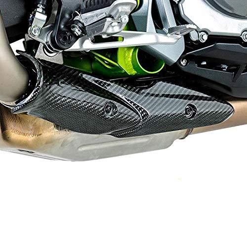 TOOGOO f/ür Kawasaki Z900 2017-2019 Motorrad Auspuff Anlage Mitte Link Rohr Kohle Faser Hitze Schild Abdeckung Schutz Verbr/ühschutz Shell