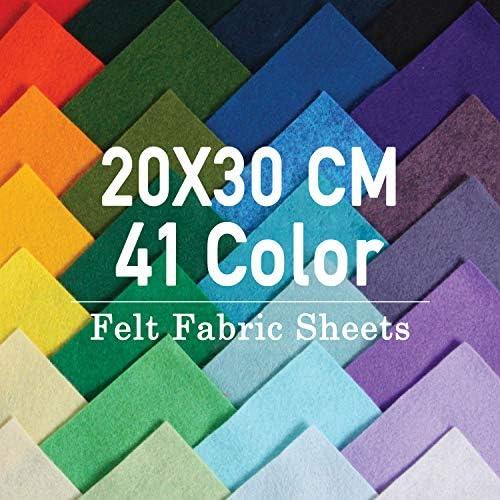 SOLEDI Fieltro Manualidades Tela no Tejido de Lana 41 Colores, Material para Costura y Artesanías de Bricolaje (20 * 30cm): Amazon.es: Juguetes y juegos