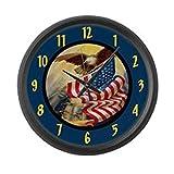 Cheap CafePress – Patriotic Bald Eagle – Large 17″ Round Wall Clock, Unique Decorative Clock