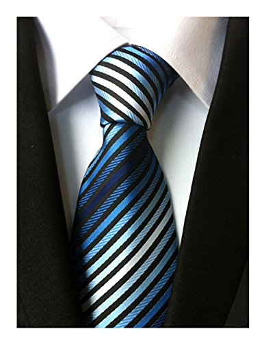 Striped Classic Black Neckties Wedding 100 Tie Yellow Men's Blue Business Silk xgZrx5qw