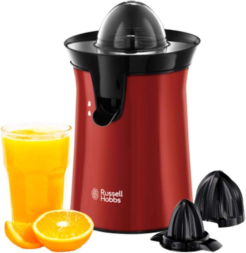 Russell Hobbs Colours Plus - Exprimidor de zumo (eléctrico, 2 accesorios, 60 W, rojo) ref. 26010-56