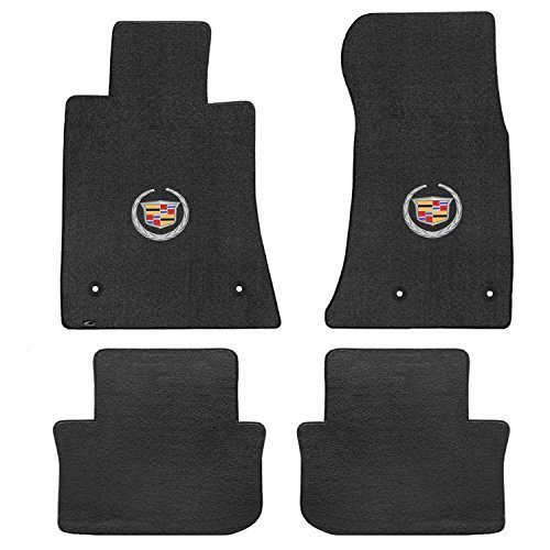 2013 2016 Cadillac ATS Black Velourtex Front and Rear Floor Mats Crest Wreath Logo supplier