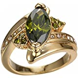 Charming Women Jewelry Yellow Gold Plated Marquise Cut Peridot Ring Wedding (9)