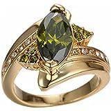 Charming Women Jewelry Yellow Gold Plated Marquise Cut Peridot Ring Wedding (9)