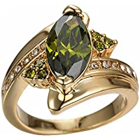 Charming Women Jewelry Yellow Gold Plated Marquise Cut Peridot Ring Wedding (7)