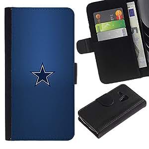 NEECELL GIFT forCITY // Billetera de cuero Caso Cubierta de protección Carcasa / Leather Wallet Case for Samsung Galaxy S3 MINI 8190 // Minimalista Estrella