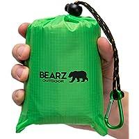 BEARZ Outdoor Beach Blanket/Compact Pocket Blanket...