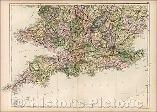 Historic Map | Sicily Islands, 1869, Adam & Charles Black | Vintage Wall Art 62in x 44in