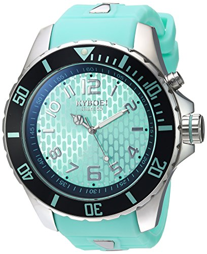 KYBOE! 'Power' Quartz Stainless Steel and Silicone Casual Watch, Color:Blue (Model: KY.55-025.15)