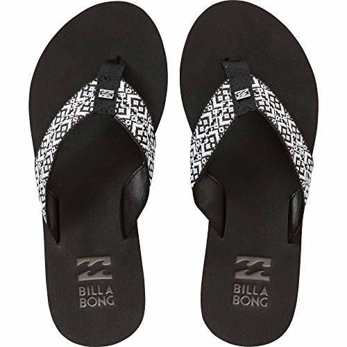 Billabong Women's Baja Flip Flop, Black/White, 10 M US