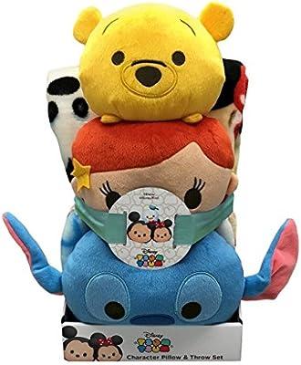 Disney – Peluche Tsum Tsum del personaje almohada y manta conjunto ...
