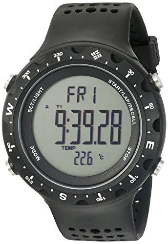 Columbia Men's Quartz Plastic and Polyurethane Fitness Watch, Color:Black (Model: CT004-001)