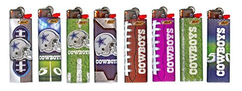 Bic Lighters Dallas Cowboys NFL Officially Licensed Full Size 8pc Set