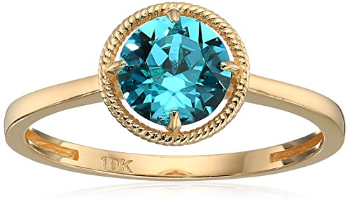 December Birthstone Ring - 10k Gold Swarovski Crystal December Birthstone Ring, Size 6