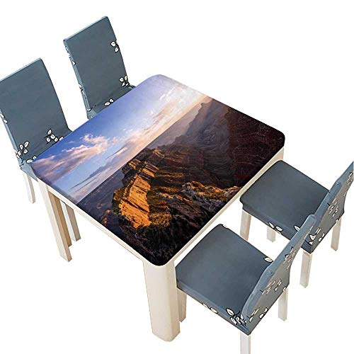 PINAFORE Polyesters Tablecloth Wotans Throne,Cape Royal at Sunset,Grand
