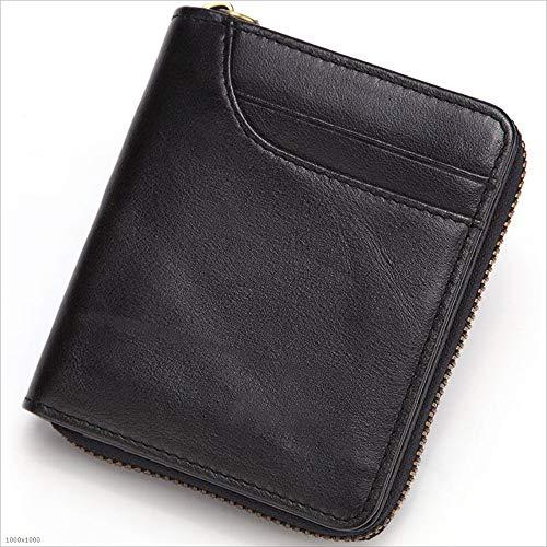 MODYL Portafogli Uomo In Pelle Pochette Primo Strato Di Cuoio Multi-Card Coin Borsa,Black Black