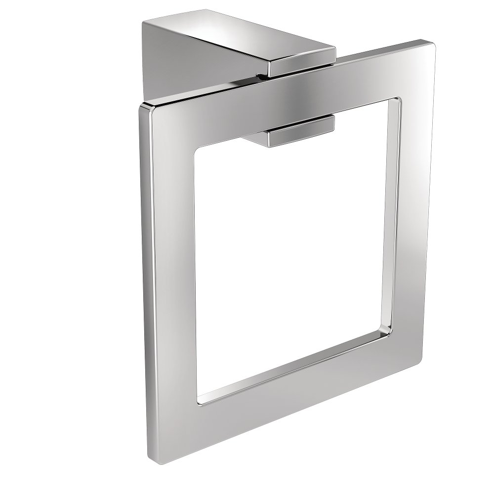 Moen BP3786CH Kyvos Towel Ring CH, Small, Chrome by Moen (Image #1)