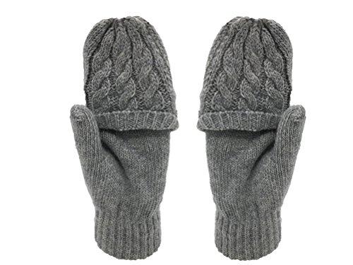 Nanxson ( TM )レディース指なし親指穴ニット冬ソリッドウール手袋st0053