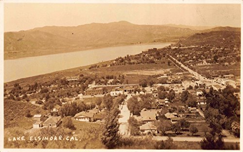 Real Photo Postcard Overview of Lake Elsinore, - Lake Elsinore Stores