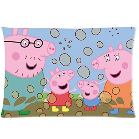 amazon com peppa pig customize pillow cases 20 x 30 home kitchen