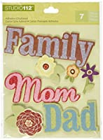 K&Company Family Words Adhesive Chipboard