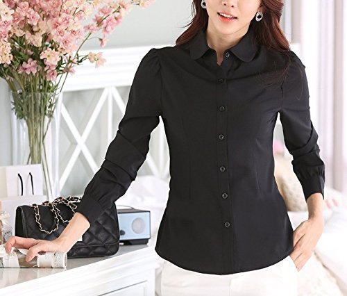 fashiondays長袖シャツブラウスカットソーワイシャツレディースブラック黒XL