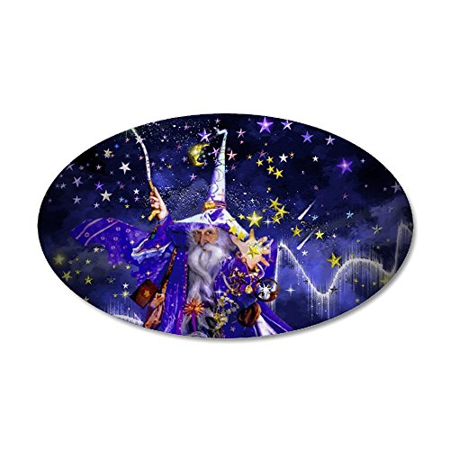 Wizard Large Ovals - CafePress - Merlin The Web Wizard Wall Decal - 20x12 Oval Wall Decal, Vinyl Wall Peel, Reusable Wall Cling