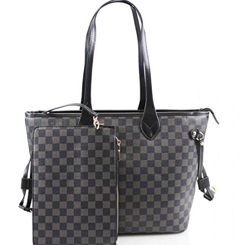 Inspired Balm Board Purse Emery Check Girl Handbag Medium in Set Mini Bag 2 1 Shoulder Lip Gossip Black Designer Check With amp; OE4qwwPF