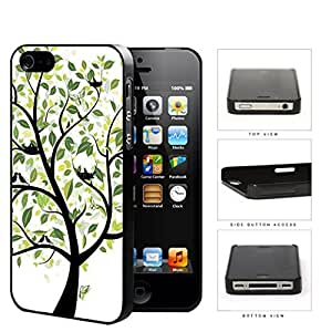 Tree With Green Leaves And Birds Nesting Hard Plastic Snap On Cell Phone Case Apple iPhone 4 4s