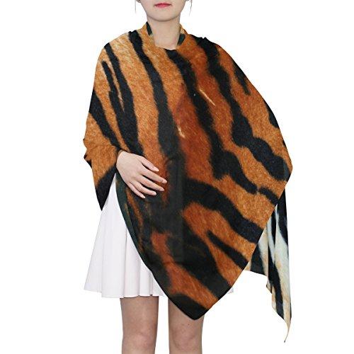 (Women's Scarf Silk Scarf Blanket Lightweight Scarves Fashion Neck Scarf Poncho with Tiger Skin Texture Shawl Wrap 70