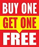 Buy One Get One Free 18''x24'' Store Business Retail Sale Promotion Signs