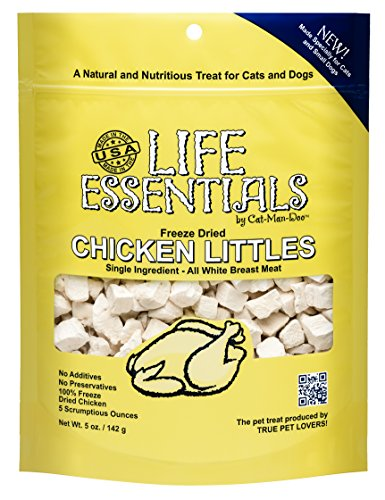 Cat-Man-Doo Life Essentials Freeze Dried Chicken Littles for Dogs & Cats -5 oz